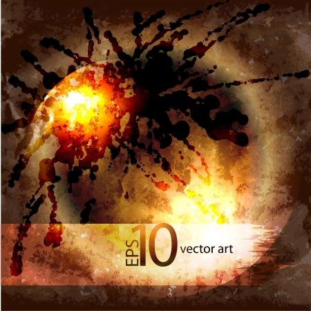 fragmentary: Resumen de vectores de fondo del grunge con un ornamento geom�trico Vectores