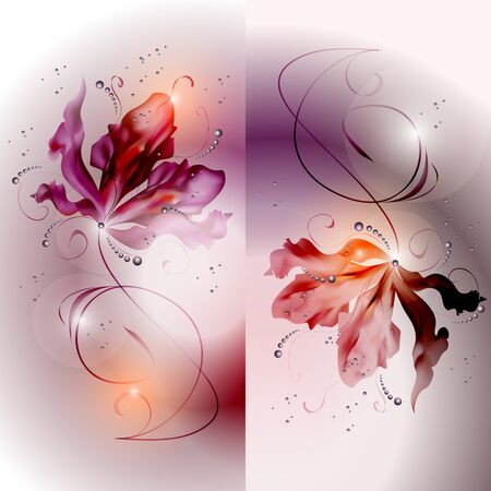 nacre: abstract vector vintage background with a flower ornament