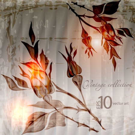 abstract vector vintage background with a flower ornament