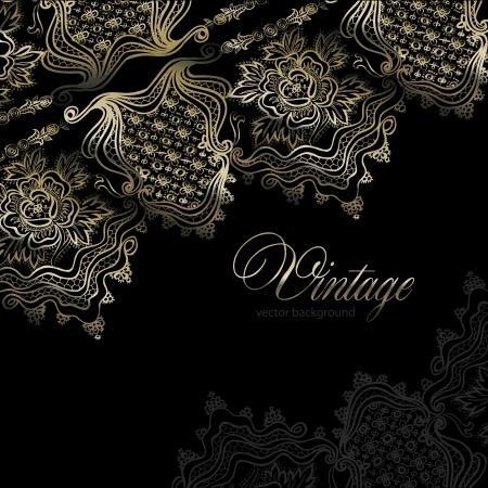 reflejo en espejo: abstracto fondo de la vendimia elegante con un adorno geom�trico Vectores