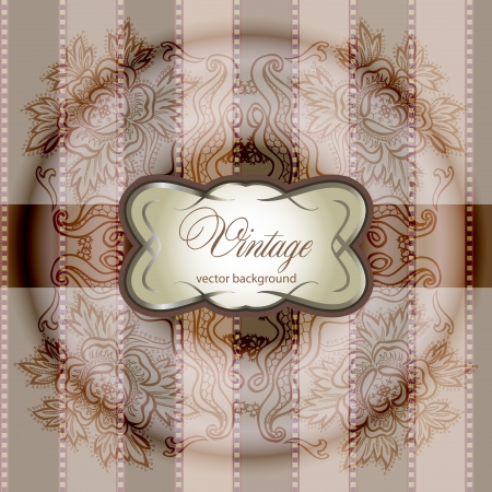 abstract vintage elegant background with a geometrical ornament Vector