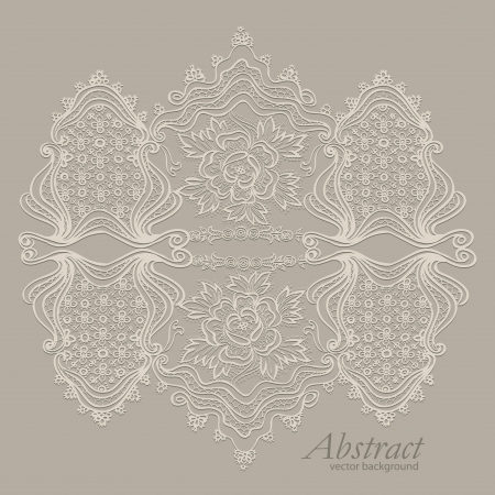 effects of lighting: abstract vintage elegant  background with a textile ornament