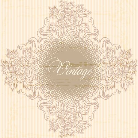 abstract vintage elegant background with a textile ornament Illustration