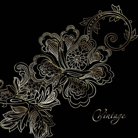 retro lace: abstract vintage elegant vector background with a textile ornament