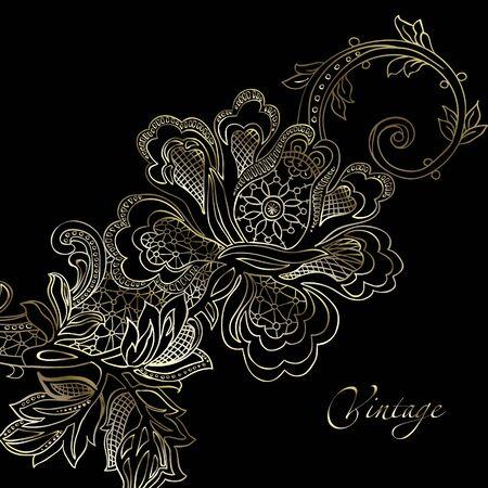 elegant vector: astratto, annata, vettore elegante con un ornamento tessile
