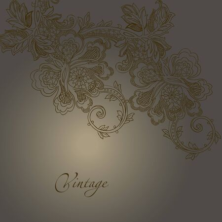 abstract vintage elegant vector background with a textile ornament Stock Vector - 15985793