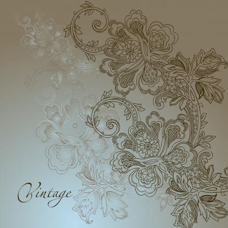 beige stof: abstract vintage elegante vector achtergrond met een textiel ornament
