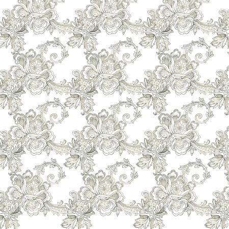 abstract vintage elegant vector background with a textile ornament