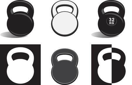 Monochrome kettlebells Stock Vector - 22208750