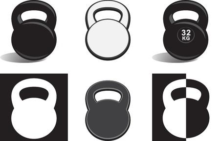 kettle bell: Monochrome kettlebells