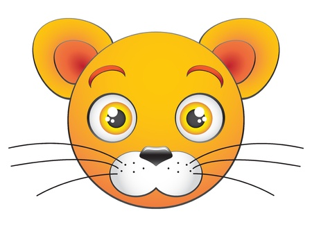 Cartoon lion cub face Vector