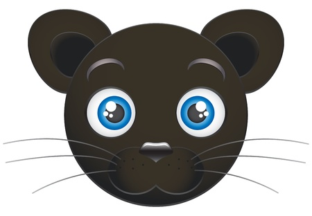 Cartoon panther cub  Vector