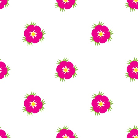 Eglantine seamless pattern Vector