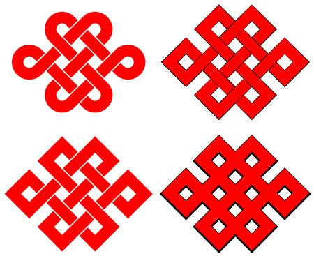 Eindeloze knoop Vector Illustratie