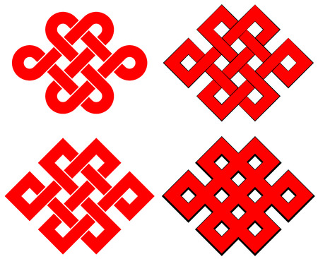 rounded squares: Endless knot