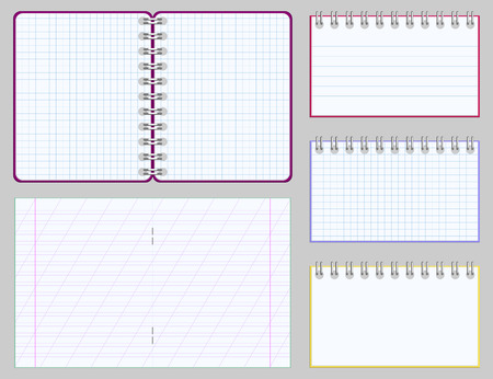 Collection of blank copybooks