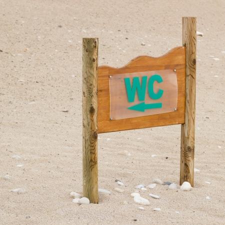 Beach toilet pointer photo
