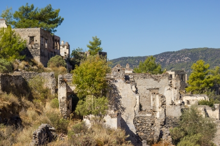kayakoy: Ghost town (Kayakoy) in Turkey