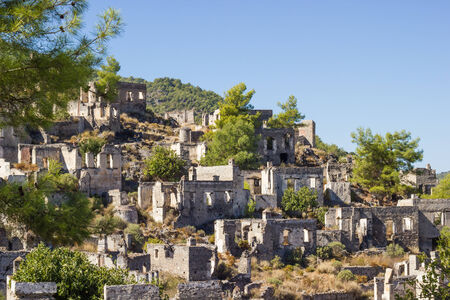 karmylassos: Ghost town (Kayakoy) in Turkey