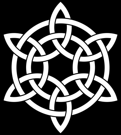 celtic background: Beautiful Celtic knot on black background Illustration
