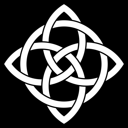 celtic background: Celtic knot on black background Illustration