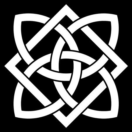 celtic background: Celtic knot on black background Illustration