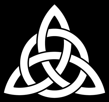Beautiful Celtic knot on black background Illustration