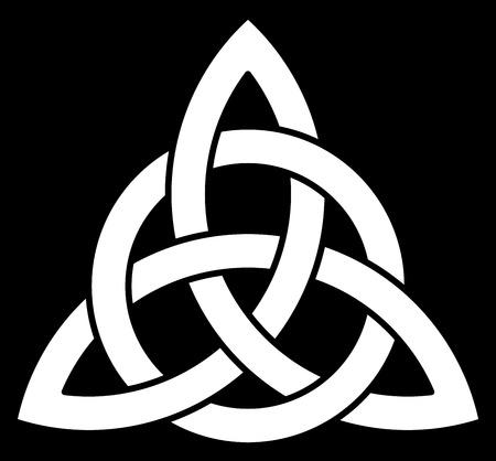 celtico: Bella nodo celtico su sfondo nero Vettoriali