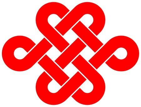 Endless knot isolated on white background  Illustration