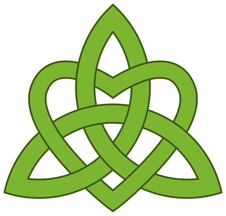 Celta nudo de la trinidad de Triquetra con un corazón