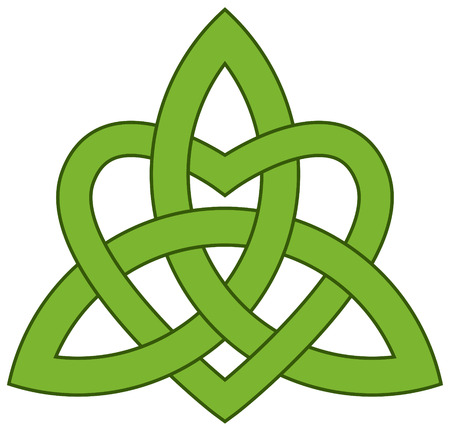 Celtic Trinity knot  Triquetra  with a heart Illustration