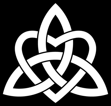 Celta nudo de la trinidad de Triquetra entrelazado con un corazón