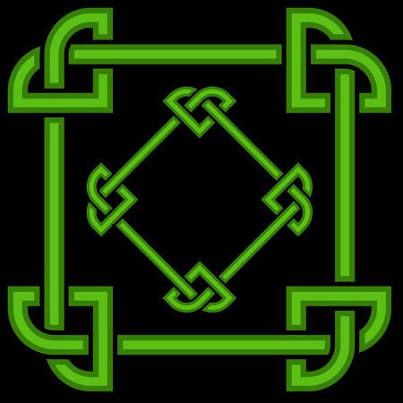 triquetra: Celtic border frame Illustration