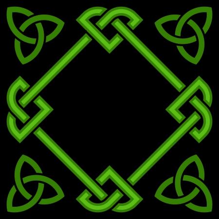 Celtic border frame Vector