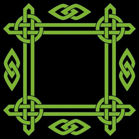 Celtic border frame Illustration