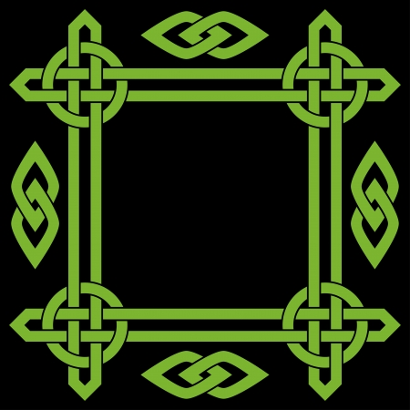 Celtic border frame Vector