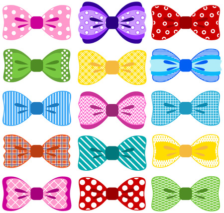 Bright bow collection Vector