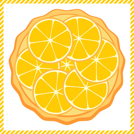 orange tart: Orange tart vector illustration Illustration