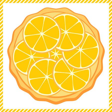 tarta: Pomarańczowy tart ilustracji wektorowych Ilustracja