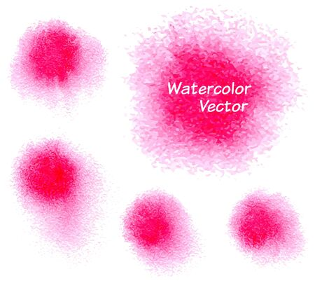 blobs: Five watercolor blobs, vector illustration Illustration