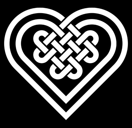 Celtic heart shape knot vector illustration Иллюстрация
