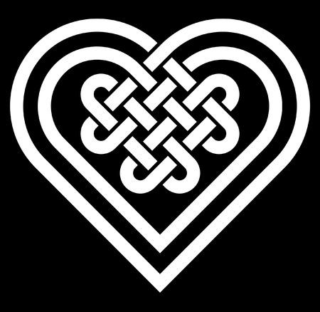 La forma del corazón celta ilustración nudo vector