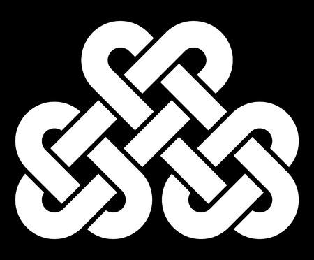 irish history: Celtic knot vector illustration