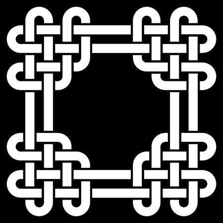 knotwork: Celtic knot frame vector illustration