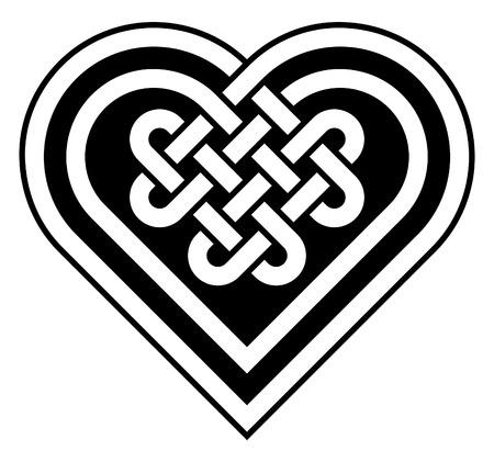 Celtic heart shape knot vector illustration Illustration