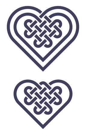 knotwork: Celtic heart shape knot vector illustration Illustration
