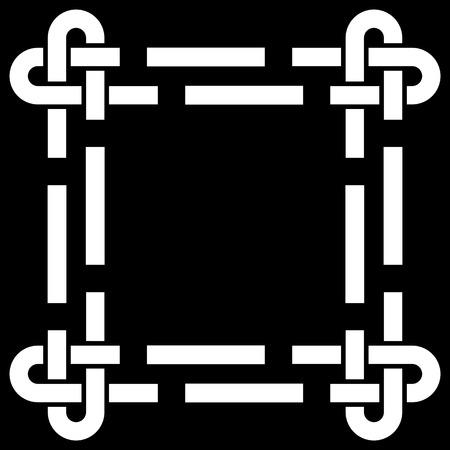 ケルト族の結び目フレーム ベクトル図  イラスト・ベクター素材