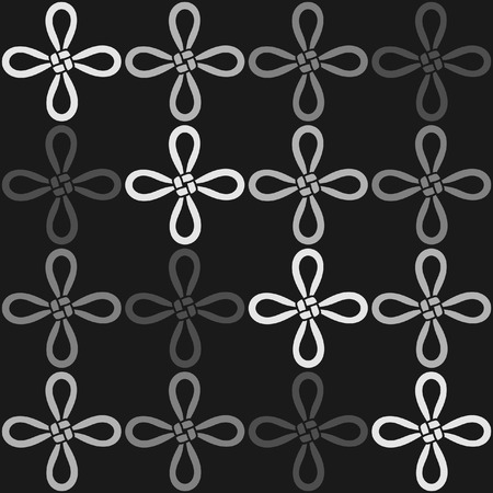 by virtue: A monochromatic seamless pattern with the Virtue knot a Chinese knot vector illustration