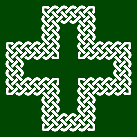 A Celtic style cross shape knot, vector illustration