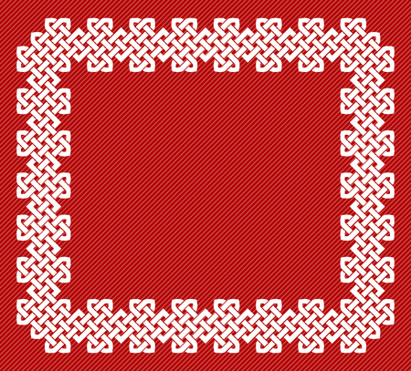 A Chinese knot rectangular frame, vector illustration Ilustrace
